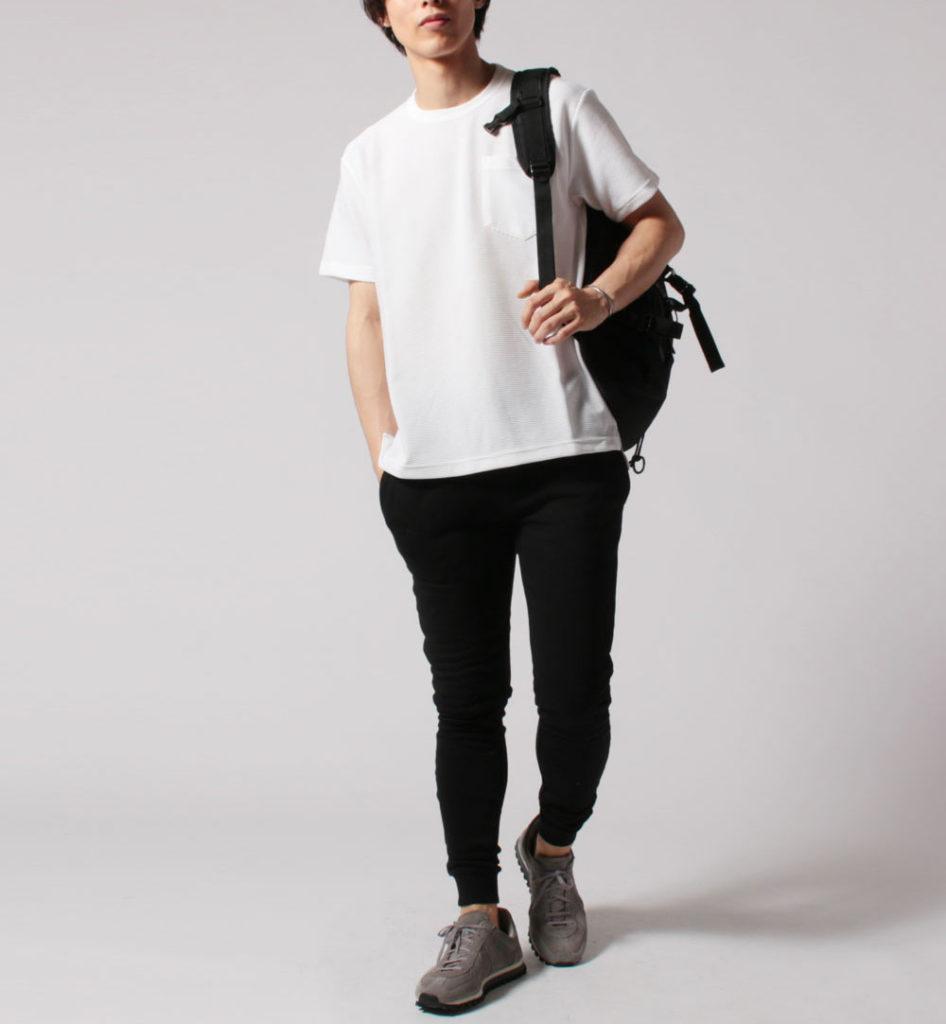 ロンティー コーデ 白 厚手Tシャツ・ 透けないTシャツ|日本製メンズブランド【美和縫製】